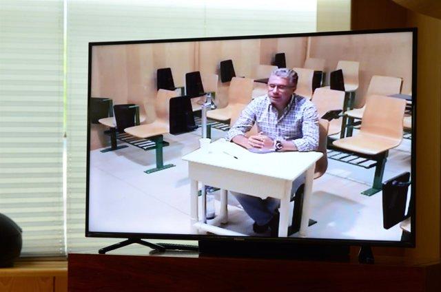 Francisco Granados comparece por videoconferencia en la comisión anticorrupción