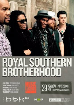 Cartel de la actuación Royal Southern Brotherhood