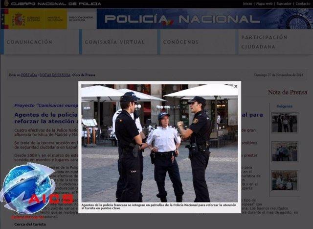 Captura del Estado Islámico con referencias a la Policía