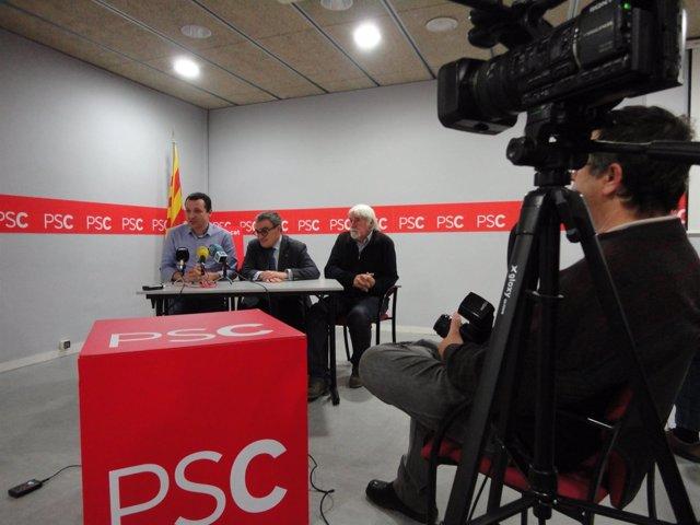 Òscar Ordeig, Àngel Ros y Antoni Llevot (PSC)