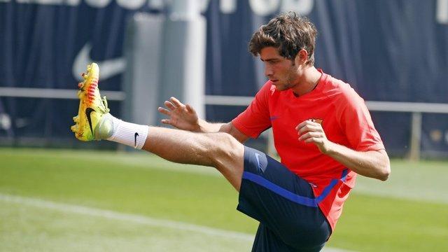 Sergi Roberto Barcelona entrenamiento