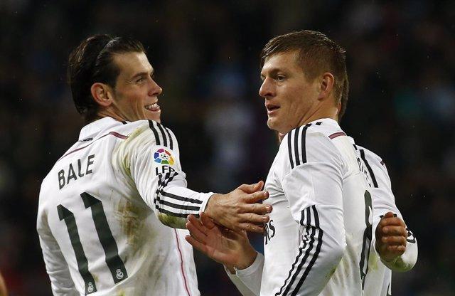 Gareth Bale y Toni Kroos, jugadores del Real Madrid