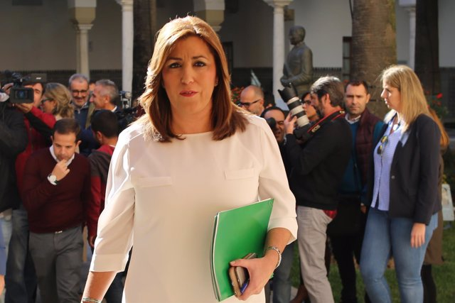 Susana Díaz, este jueves en el Parlamento de Andalucía