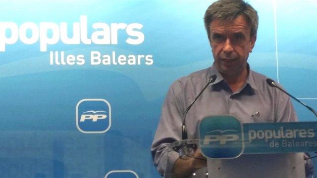Vidal en un momento de la rueda de prensa