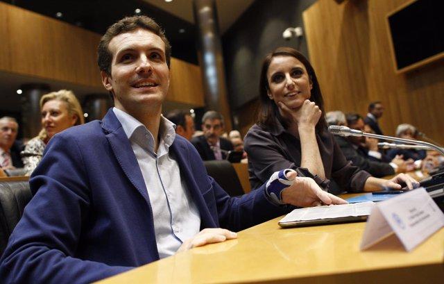 Pablo Casado y Andrea Levy