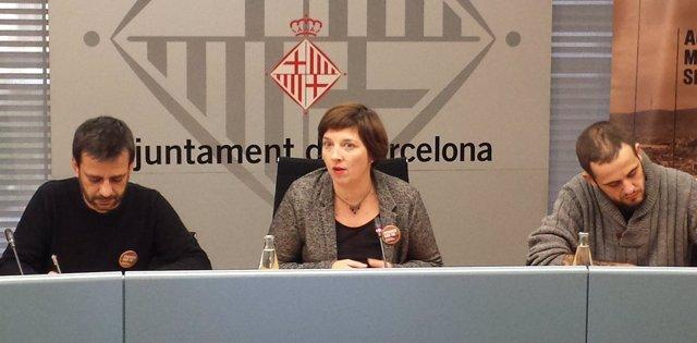 Jesús Ruiz, Laia Ortiz y Albert Sales