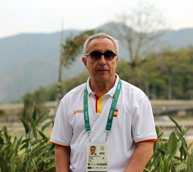 El presidente del COE Alejandro Blanco en los Juegos de Río