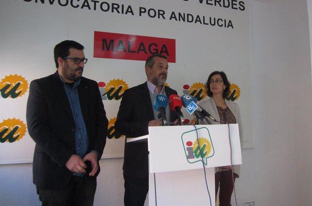 José Antonio Castro en rueda de prensa en Málaga