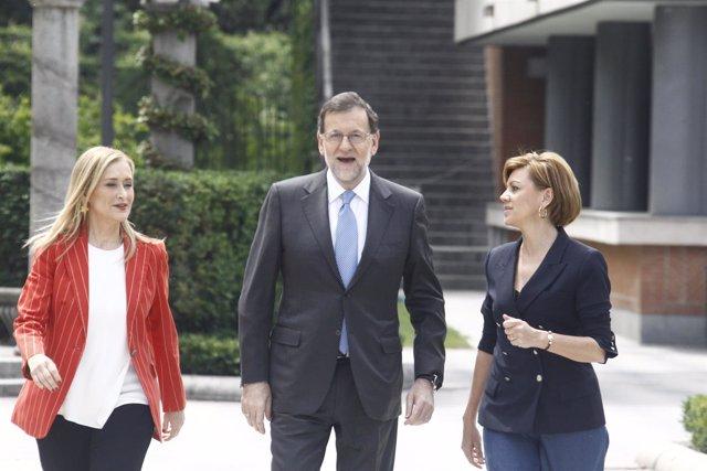 Cristina Cifuentes, Cospedal y Rajoy