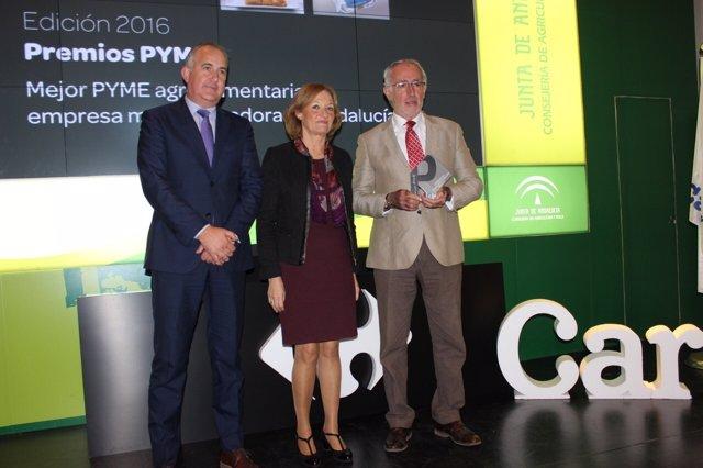 Premios Carrefour a la mejor pyme agroalimentaria.