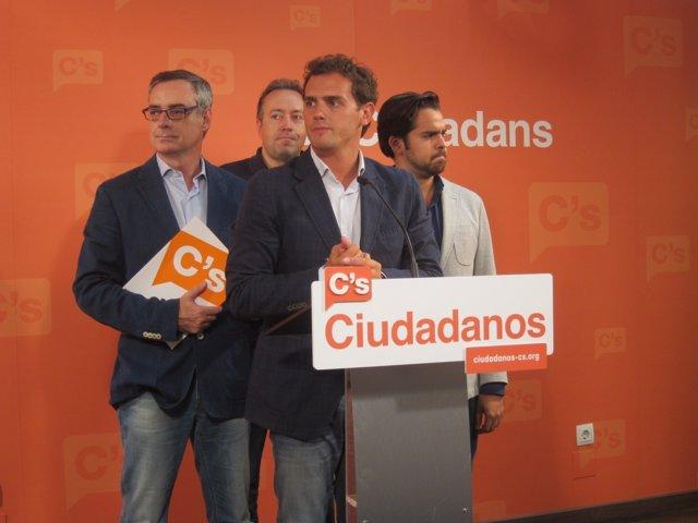 Albert Rivera,José Manuel Villegas,Juan Carlos Girauta,Fernando de Páramo (C's)