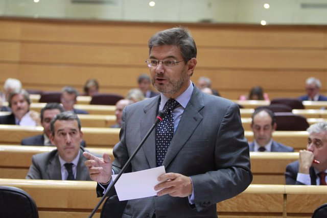 Rafael Catalá en el Senado