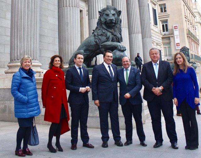 Barreiro, Borrego, García, Ruano, Sánchez, Bernabé y Carreño
