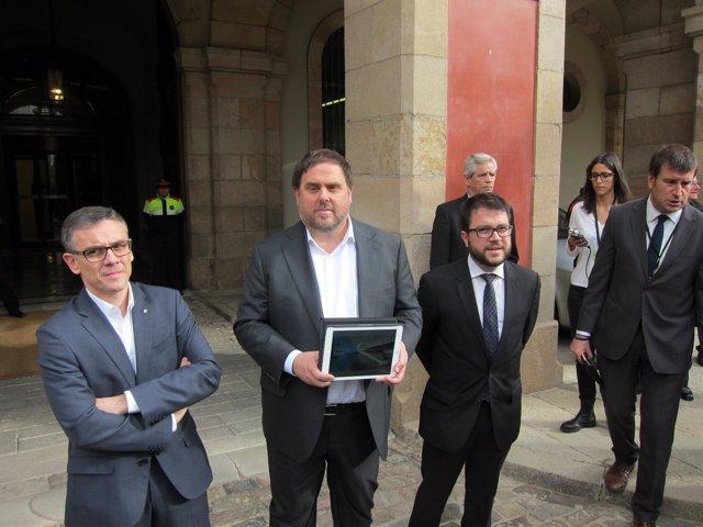 Conseller Oriol Junqueras, secr.De Economía Pere Aragonès