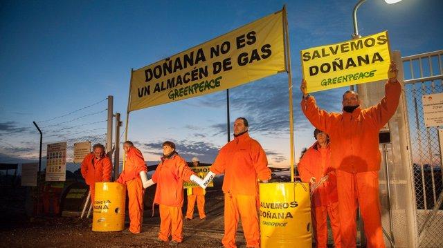 Acción en Doñana contra el proyecto de Gas Natural Fenosa  29/11/2016, Doñana, H
