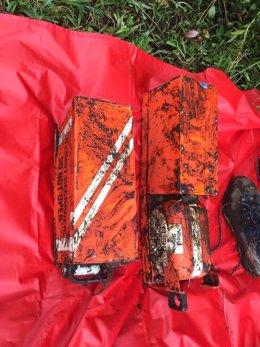 Cajas negras del avión estrellado en Colombia