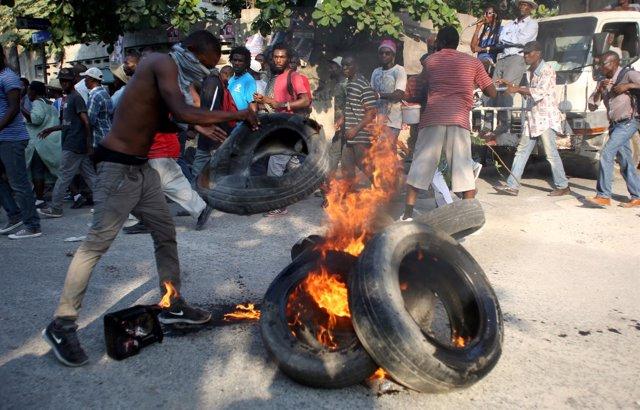 Protestas en Haití por los resultados electorales
