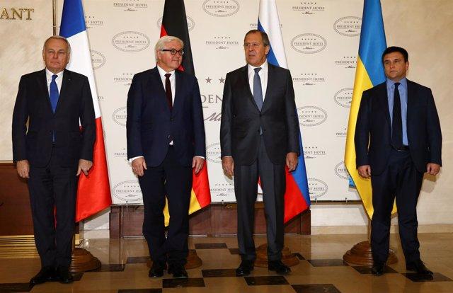Los ministros de Exteriores del 'cuarteto de Normandía', reunidos en Minsk