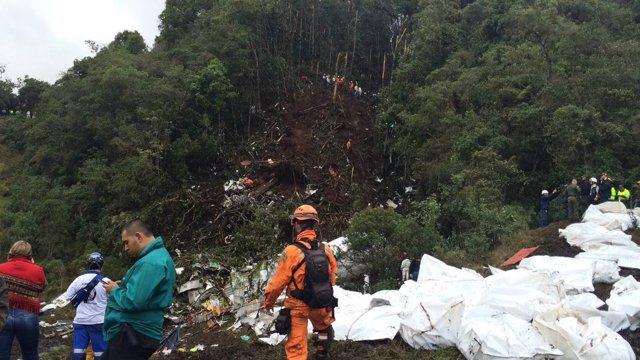 Accidente del avión del Chapecoense en Colombia