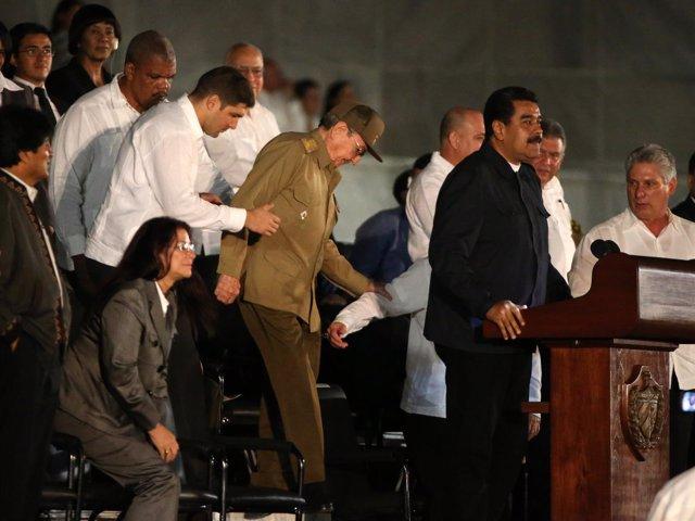 Nicolás Maduro en la despedida de Fidel Castro