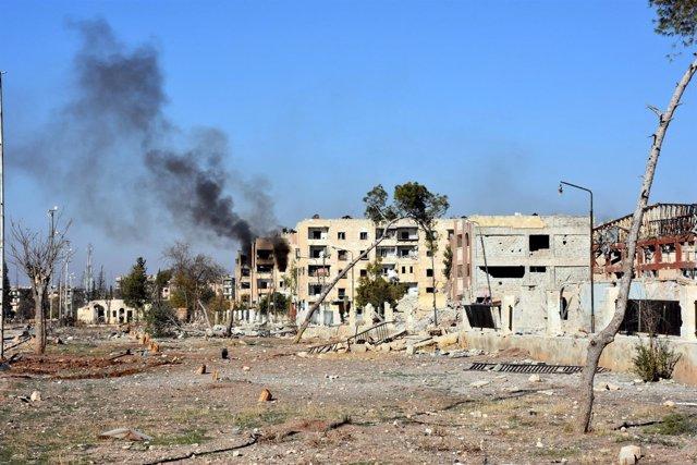 Combates en Alepo