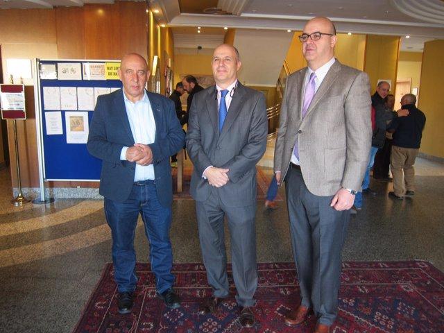 Aurelio Pérez, Jorge Llorente y el vicepresidente de la Diputación de Salamanca