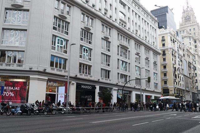 Primark de Gran Vía en Madrid, Mango y Lefties