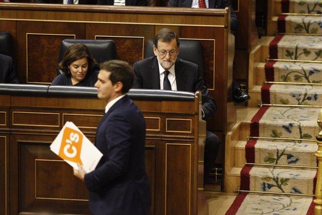 Rivera y Rajoy en el Congreso