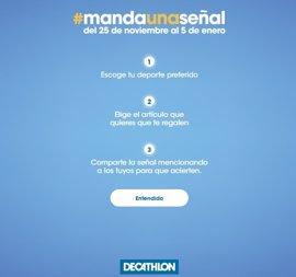 Decathlon impulsa la campaña #mandaunaseñal para elegir el regalo navideño