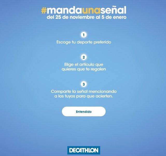 Campaña de decathlon #mandaunaseñal