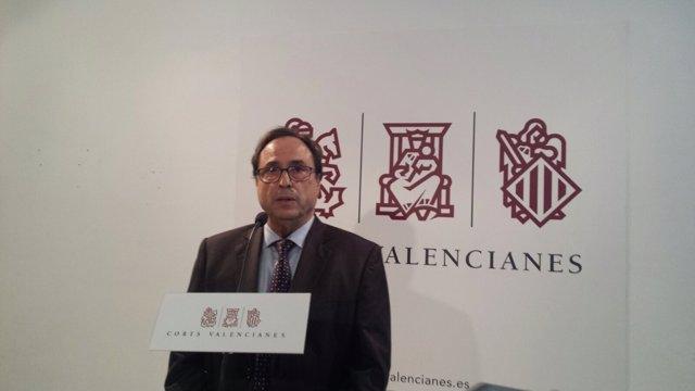 El conseller Vicent Soler, en rueda de prensa