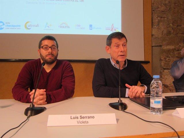 Luis Serrano (Violeta) y Ferran Pujol (director del BCN Checkpoint)