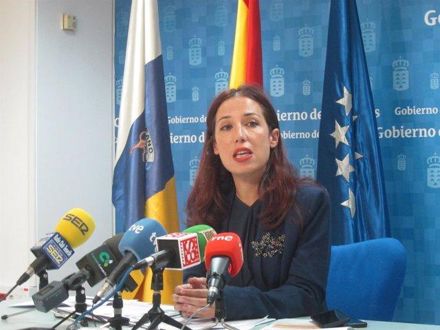 Patricia Hernández, en rueda de prensa