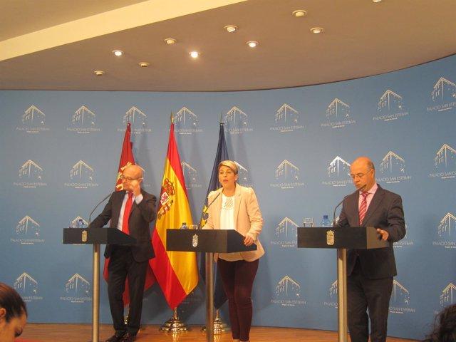 Juan Hernández, Noelia Arroyo y Andrés Carrillo