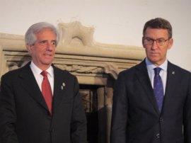 Feijóo ofrece estabilidad política y de las empresas gallegas a las inversiones de Uruguay