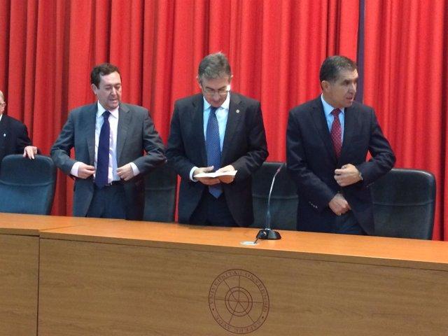 Antonio Pontón, Francisco Ruiz y presidente del TSJA
