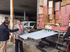 Nueve detenidos y 900 kilos de hachís intervenidos para su distribución en Europa