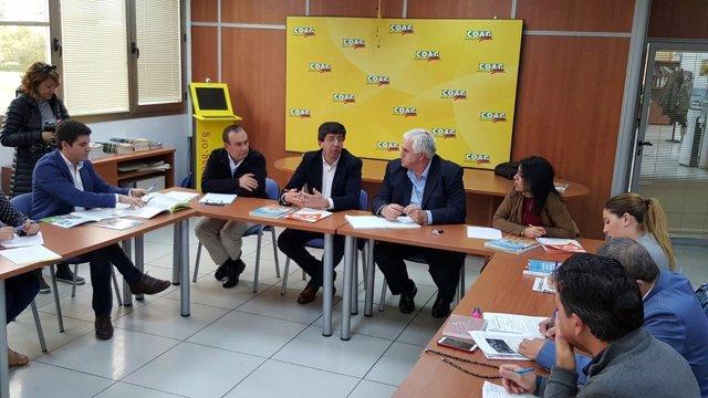 Juan Marín y otros dirigentes de C's se reunen con COAG Andalucía