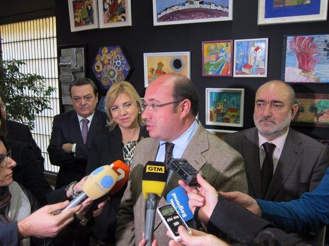 El presidente del Gobierno regional, Pedro Antonio Sánchez