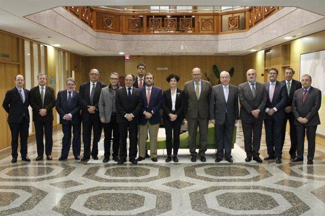 Ramón Álvarez de Miranda y los demás presidentes de Tribunal de Cuentas