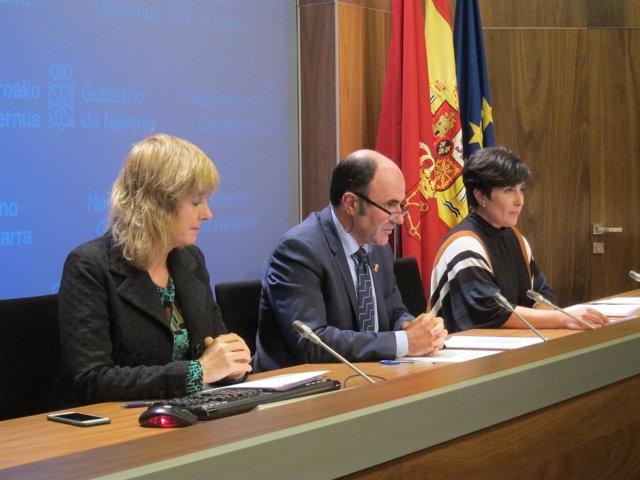 Ana Ollo, Manu Ayerdi y María Solana.