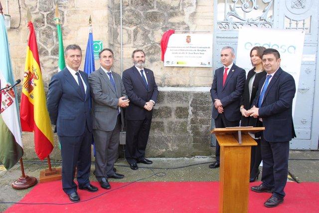 Acto de conmemoración del centenario de la presa de Mengíbar.