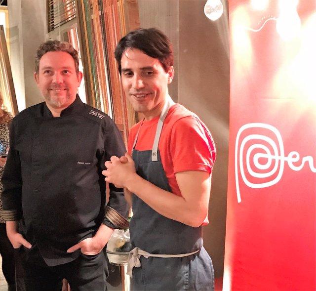 El chef Virgilio Martínez y Albert Adrià