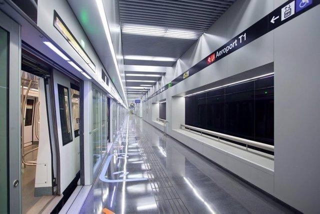 Estación Aeroport T1 de la L9 de Metro de Barcelona