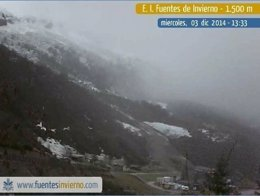 Estación de esquí de Fuentes de Invierno, casi sin nieve