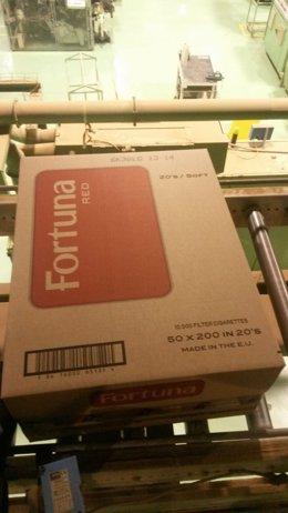 Ultima caja de tabaco fabricada en Altadis de La Rioja