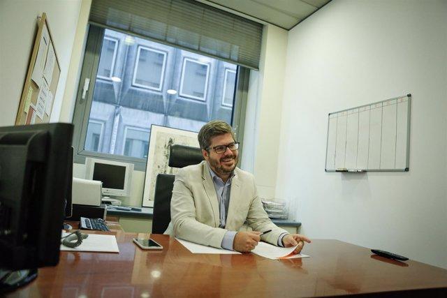 El secretario de Organización de Ciudadanos, Fran Hervías