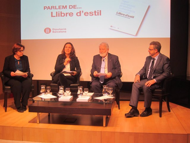Mercè Conesa, Joandomènec Ros, Lluïsa Tena y Josep Maria Mestres