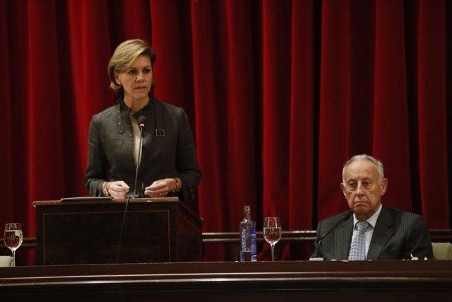 La ministra de Defensa, María Dolores de Cospedal, en el Casino de Madrid