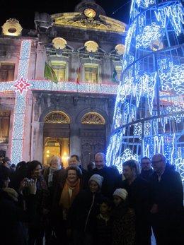Nota Y Fotos Inauguración Iluminación Navideña Diputación